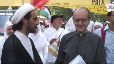 P. Michel Lelong během mezináboženského dialogu.