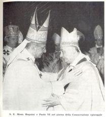 Biskupské svěcení A. Bugniniho Pavlem VI., 13. února 1972.