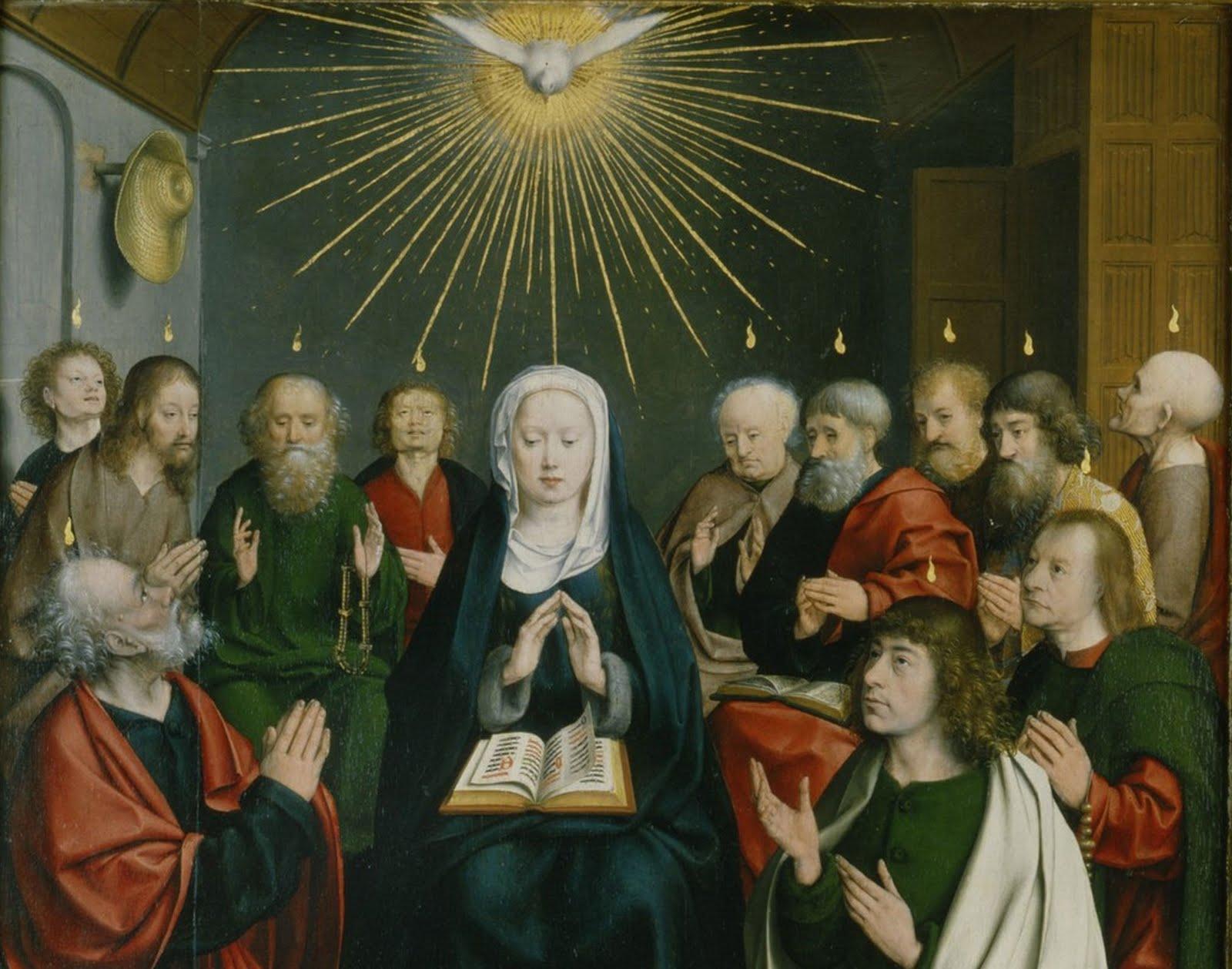 Jan Joest van Kalkar - Pentekost detail