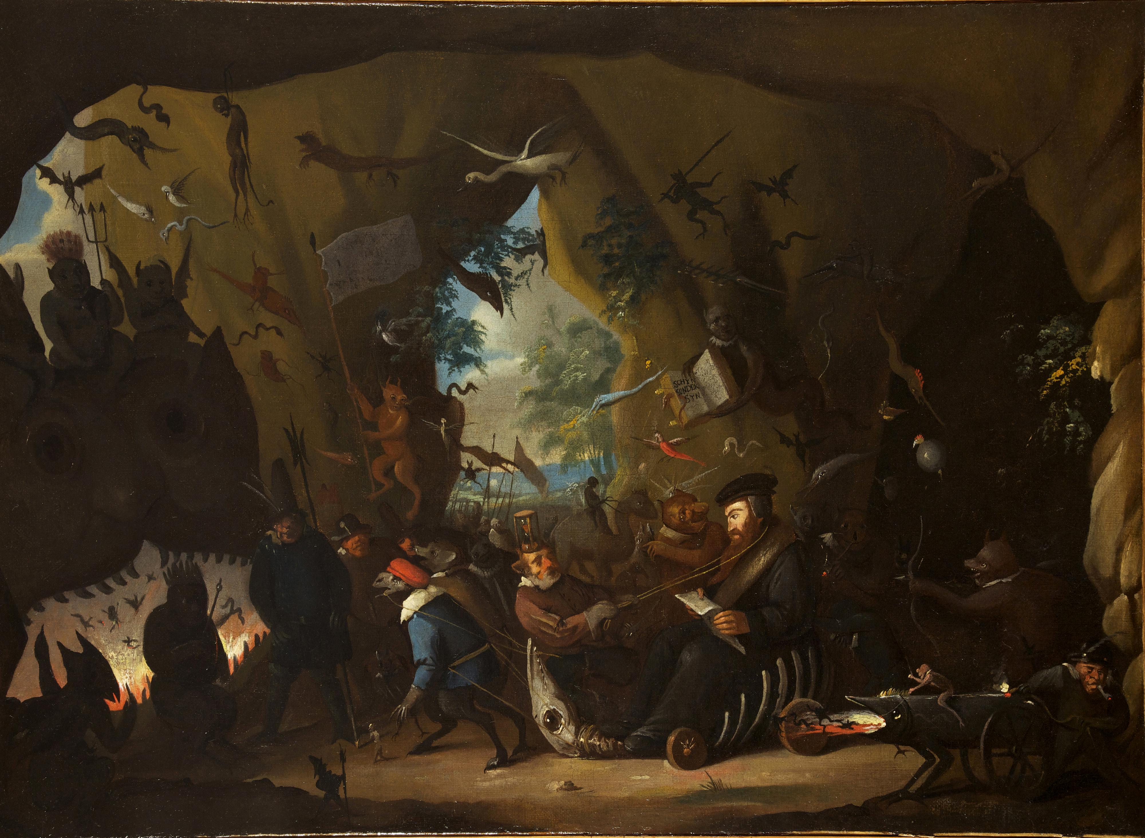 Egbert van Heemskerck - Calvin in Hell, 1700-10