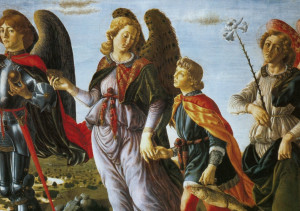 Francesco_Botticini_Three_Archangels_with_Tobias._(135x154cm)_c.1471_Uffizi,_Florence_x