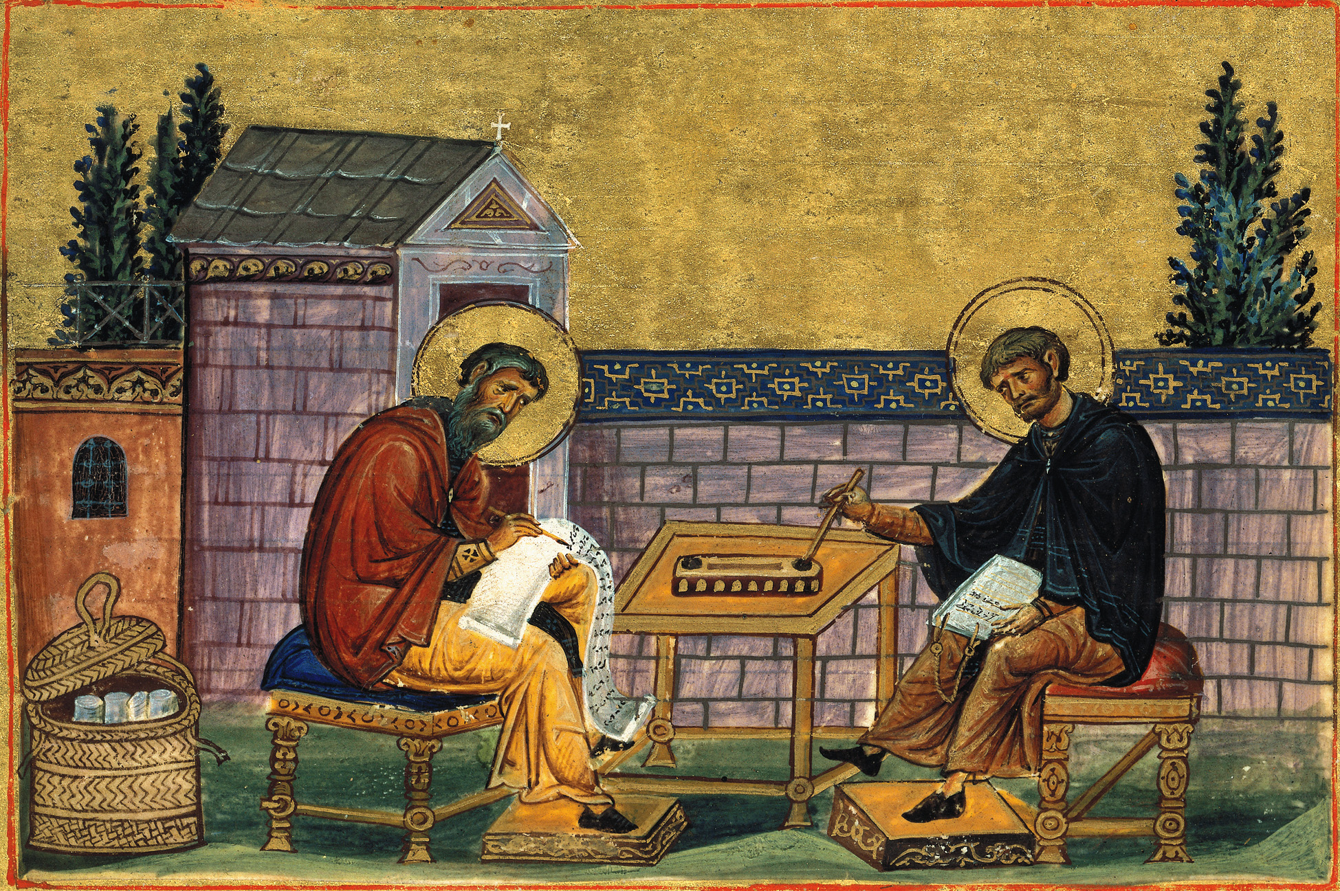 St. John of Damascus and St. Kosmas Bishop of Maiouma