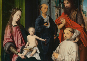 Virgin-and-Child-Enthroned-with-Saints-Jerome-and-John-the-Baptist-and-a-Carthusian-Monk-ca-1510-Jan-Provoost