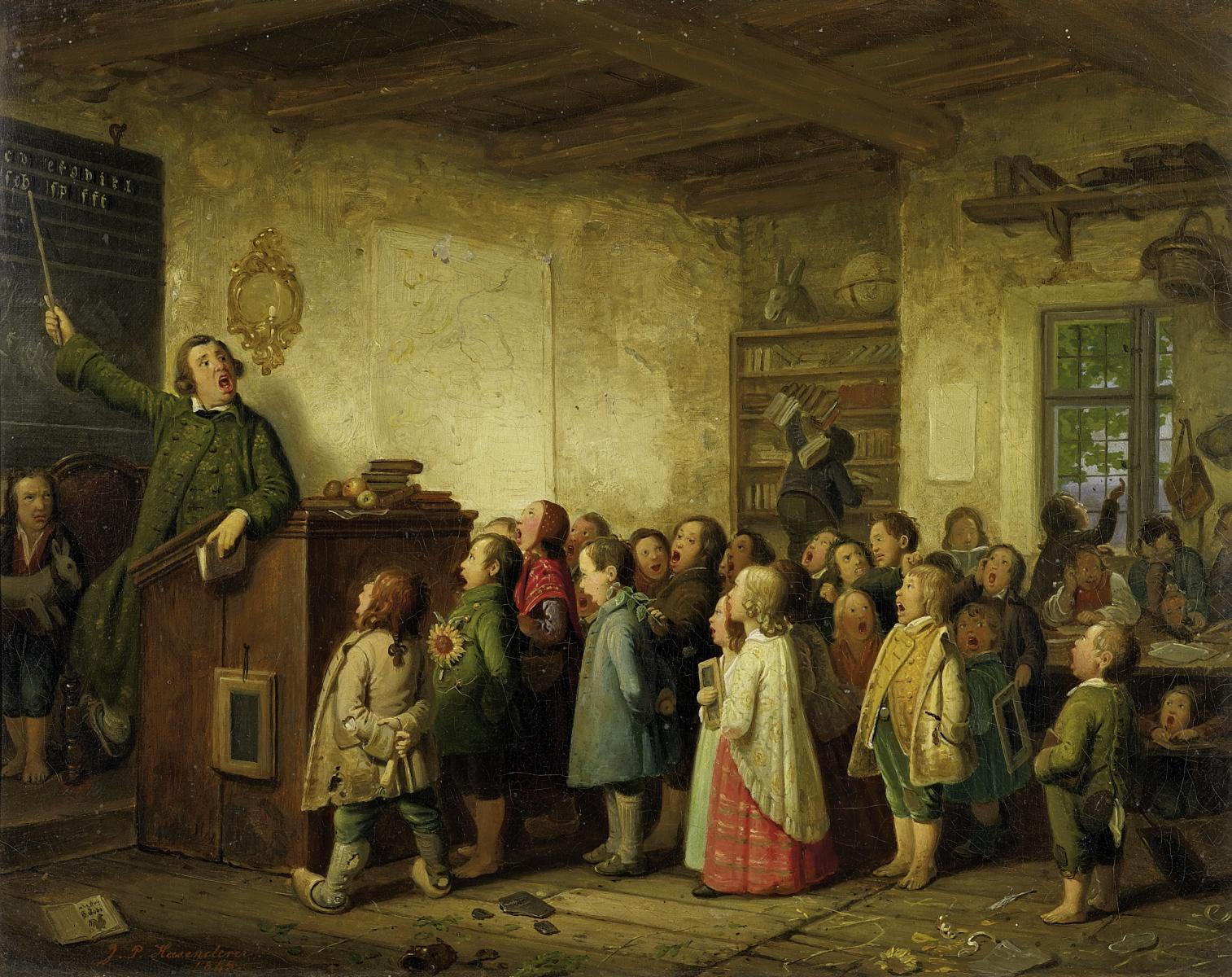 Johann_Peter_Hasenclever_-_Die_Dorfschule